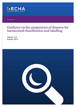 Guidance on the preparation of dossiers for harmonised classification and labelling