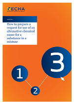 How to prepare a request for use of an alternative chemical name for a substance in a mixture